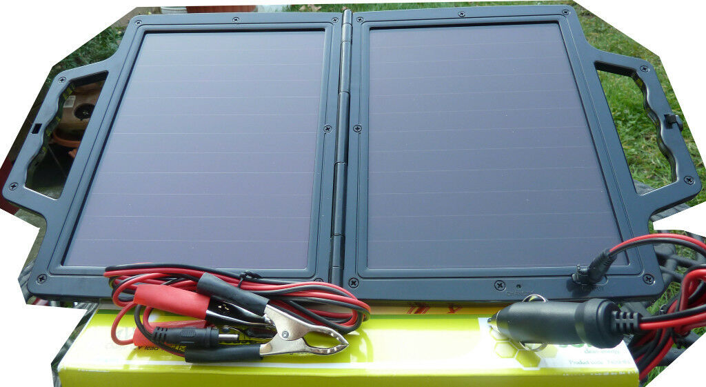 4 Watt Amorphous Solar Panel Briefcase £15! Charges 12V Batteries In ...