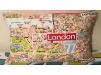 Mother's Day Gift Idea Handmade 50cm x 30cm A-Z London Map Cushion - collect from Gosport