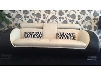 LEATHER SOFAS WITH CUSHIONS