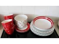 Dinner set and mugs