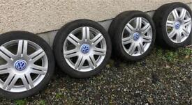 "VW Passat V6 4 Motion 5x112 17"" Alloys sport RARE"