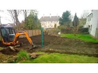 mini digger for hire £60 per day £30 diesel and delivery £100 per day driver, hire with driver only