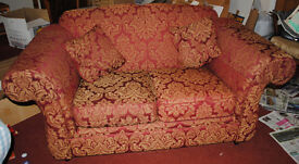 Lovely burgundy country style 2 seater sofa