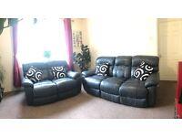 Leather sofas 2 peice 5seats