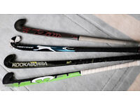 Hockey sticks: Dita Pro-Tekk 395, Kookaburra Midnight Mbow, Mercian 103, Slazenger Spectre Protege