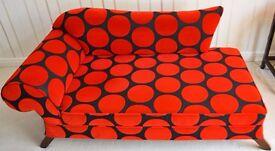 Bespoke Chaise Longue Feature Seductive Deep Red Sofa Chair Rouge Black Spots