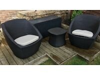 Rattan table and chairs set