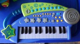 Toy piano keyboard