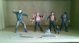 Freddie Kruger x3 figures and Jason figure