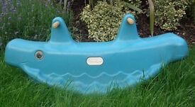Little Tikes double slide + Little Tikes blue whale teeter totter seesaw