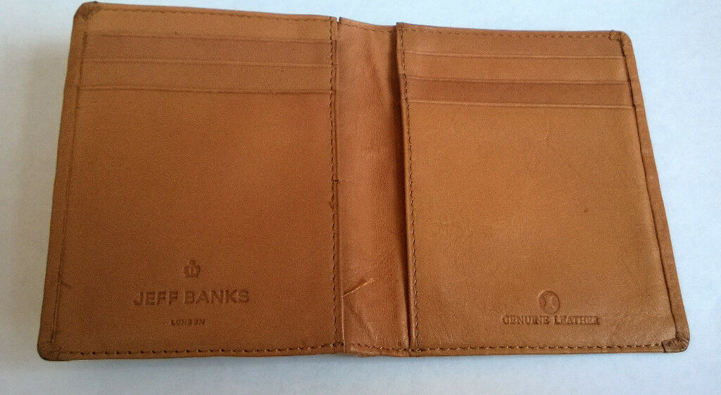 vintage jeff banks leather wallet