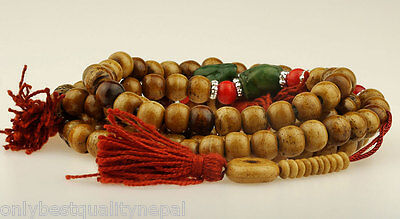 Bone Chain Mala Chain Antique Look Tibet Lama Rosary 10