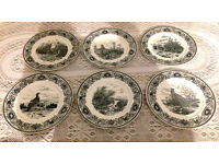 Mason's Patent Ironstone England Game Birds Set of 6 Plates