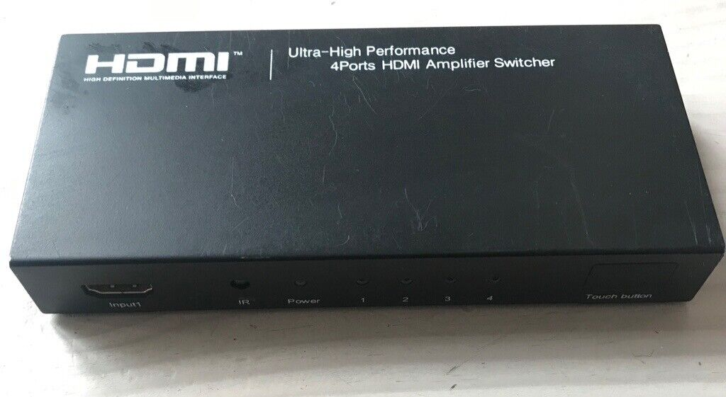 HDMI switcher 4 Port (4 in - 1 out) Ultra high performance | in Kingston,  London | Gumtree