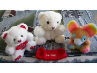 3 cute teddies! Very good condition. £1.50 the lot.