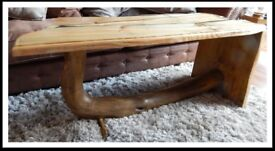 Unique Coffee Table, 100% solid wood, Free Delivery