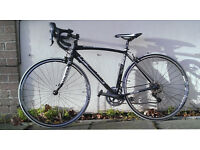 Raleigh Revenio Road bike - 52 cm , black and white, like new