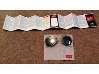 Unisex mirrored aviator style ray ban sunglasses