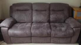 Electric recliner 3 seater sofa