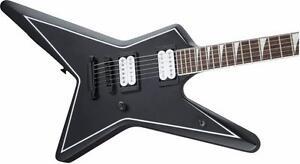 Jackson X Series Gus G. Star RW Satin Black w White Pinstripes 2919000568 *neuve