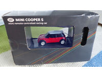 Boot's Mini Cooper S,Remote Controlled Racing Car,New In Box. £4.00