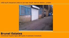 1000sq ft Industrial Unit to Let near South Harrow station GBP265 per week