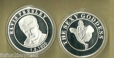 ELVIS PRESLEY & THE SEXY GODESS SILVER COLLECTOR COIN