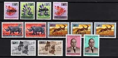 Belgisch Congo Belge Rep. Congo n° 532/44 MNH Recup set Animals Flowers c20.00Eu