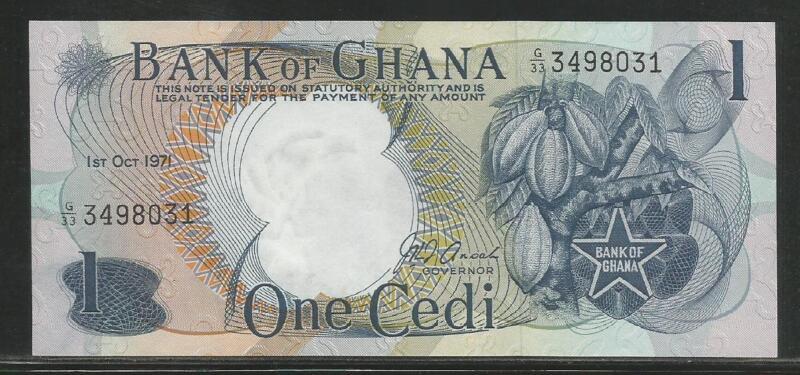 Ghana P-10d 1 Cedi 1971 Unc