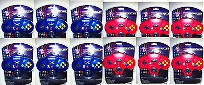 12 Lot 6 Blue & 6 Clear Turbo Nintendo 64 N64 Controllers...