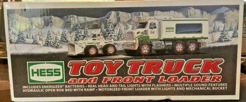 LAST ONE! 2008 HESS TOY TRUCK & FRONT LOADER W/ LIGHTS & SOUNDS MINT NEW IN BOX