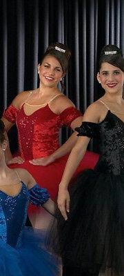 Nutcracker Ballet Costume Tutu Classical CLASSIQUE Christmas Dance RED CM- 2XL