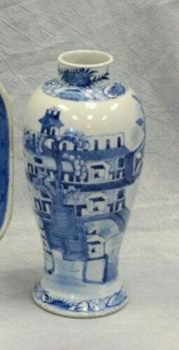 Chinese blue and white porcelain baluster vase