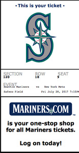 New York Mets at Seattle Mariners, July 28th