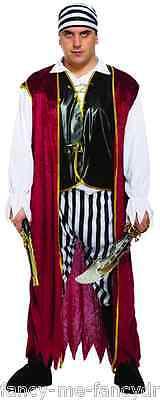 5 Teile Herren Halloween Piraten Bösewicht Kostüm Kleid Outfit Größe - Herren Piraten Kostüm Xxl