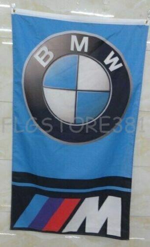 BMW Flag Banner3x5ft Vertical M Power Wall Decor Garage Man Cave Flag