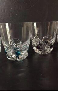"2 Lalique Whisky ""Floride"" Tumblers"