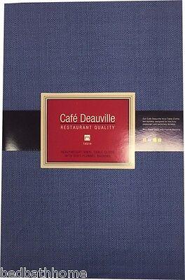 NEW Denim Blue Vinyl Tablecloth - Restaurant Quality - Cafe Deauville