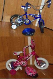 2 Vélos Bicyclettes 12 pouces