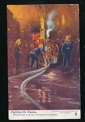 FIRE FIGHTING Brigade at work Tuck Oilette #6459 1904 PPC