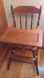 Vintage Wooden High Chair