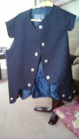 Large Navy Jacobean Waistcoat