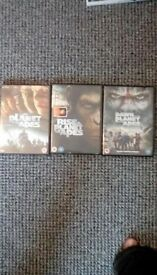 Planet of the Apes x 3 DVDs