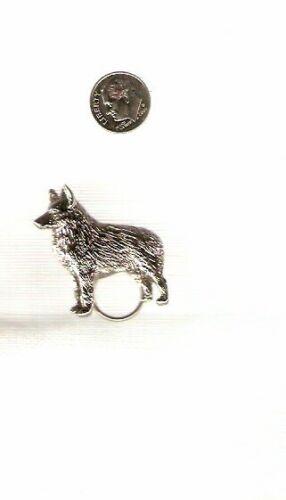 Schipperke Nickel Silver Eye Glass Holder Scarf Pin Jewelry