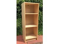 Freestanding Shelving Unit, Light Wood – 3 shelves