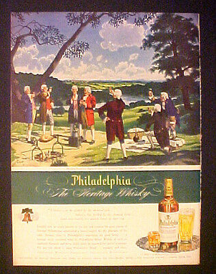 1945 Ben Franklin Electrical Picnic Fairmount Park,Philadelphia Blened Whisky AD