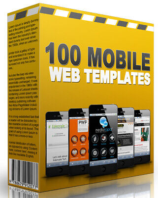 100 Mobile Tablet Friendly Turnkey Websites Templates - Resell Rights