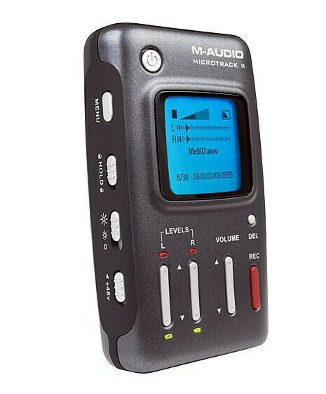 M-AUDIO Micro Track II Professional 2 Channel Mobile Digital Recorder - sehr gu!