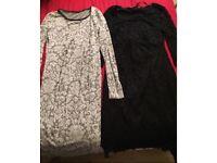 2 x maternity dresses size 10/12