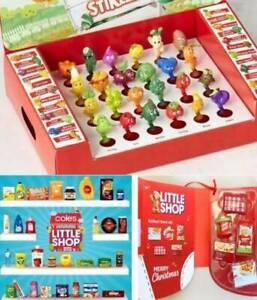 3 complete sets STIKEEZ, little shop xmas minis coles case collec